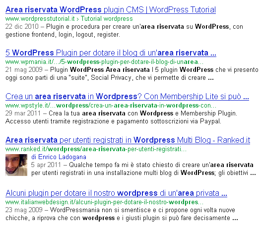 La presenza dell'authorship all'interno di una serp aumenta il CTR