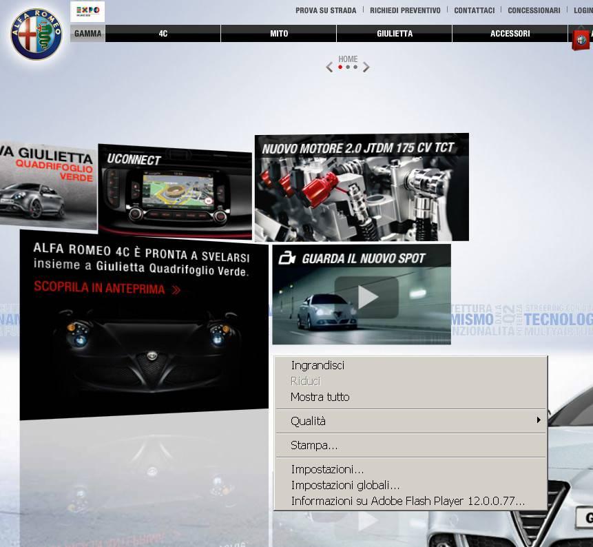 Home page Alfa Romeo