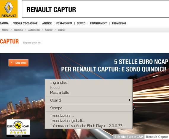 Renault Captur, l'utente è costretto a riprodurre un video