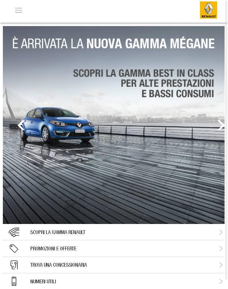 Sito web mobile Renault