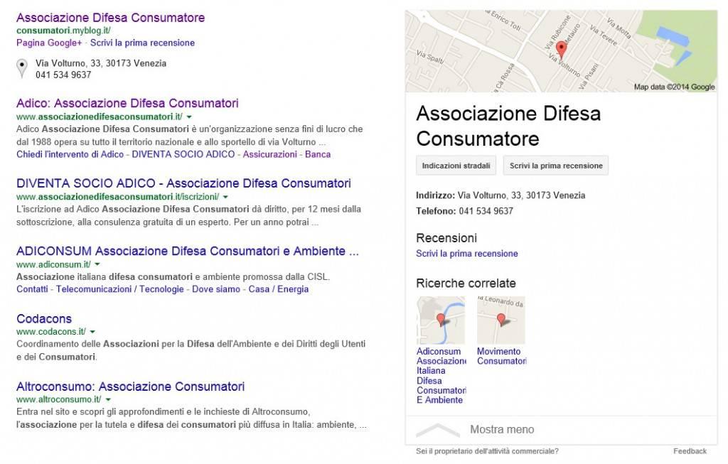 Google Business Associazione Difesa Consumatori